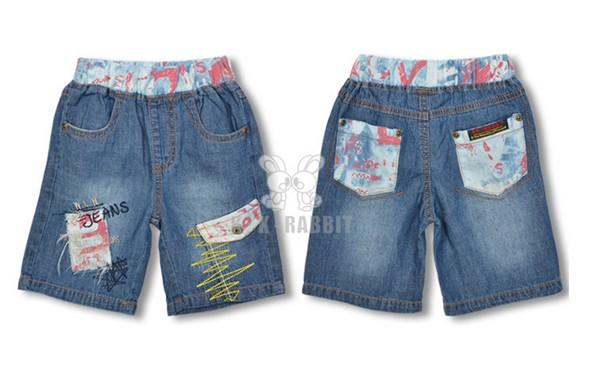 欧美牛仔短童裤批发