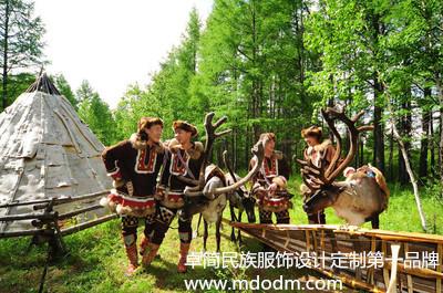 中国鄂温克族表演服批发