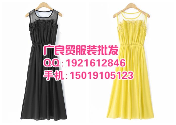 上海欧美风时尚夏季雪纺裙批发