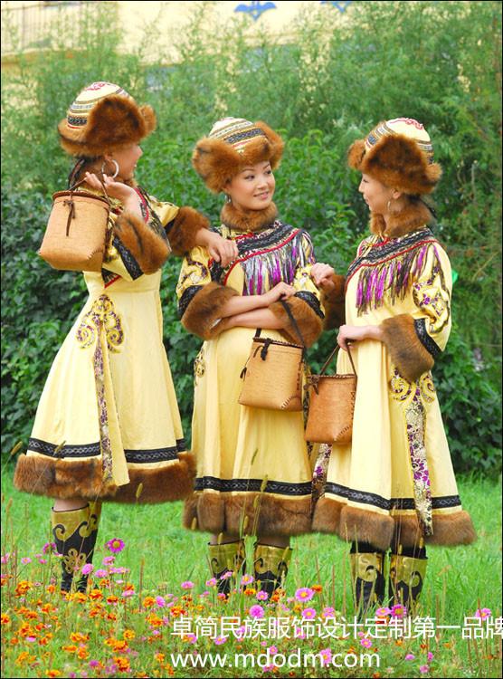 采购款式新的鄂伦春族服饰首选卓简民族服饰