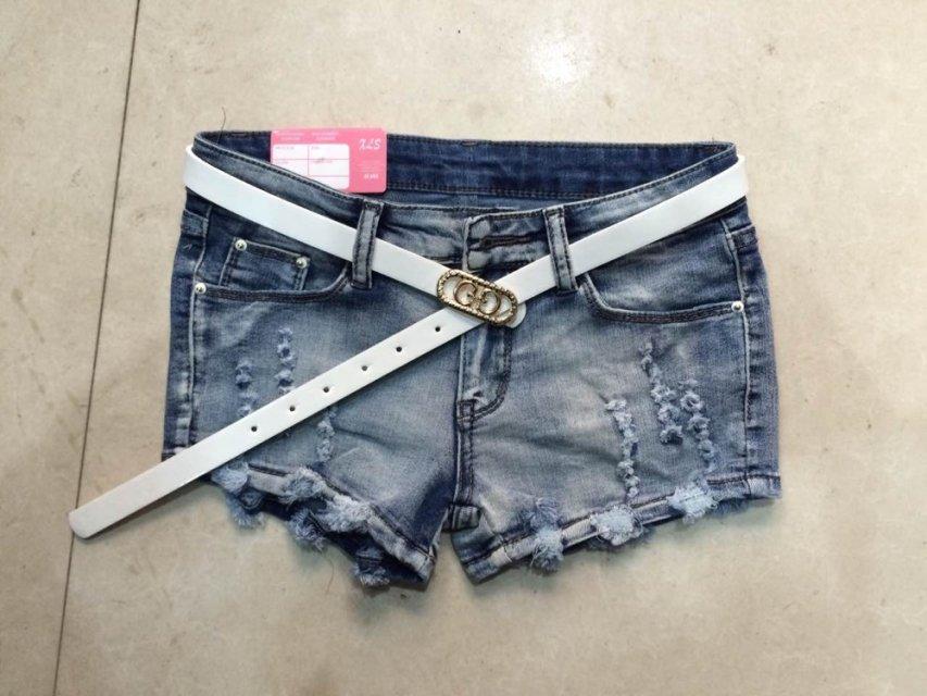 镶钻磨破蕾丝边性感牛仔短裤热裤工厂清货批发