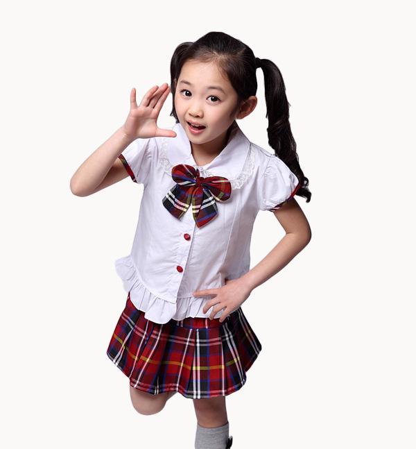 亿诚制服YCWH-002 夏季短袖衬衫款幼儿园服套装批发