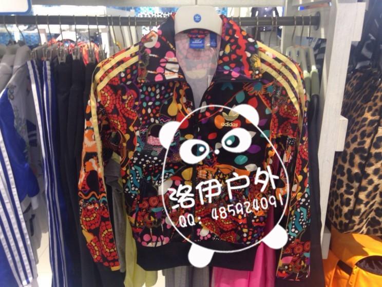 亮丽的adidas三叶草女款夹克外套M30785批发