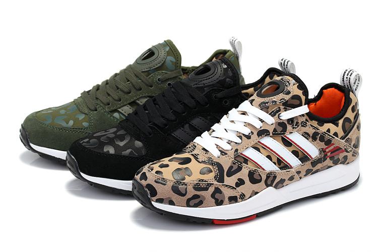 迈朗供应便宜的阿迪三叶草豹纹跑鞋