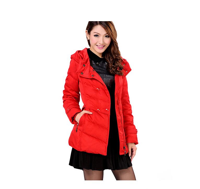濮阳市专业的冰洁女装新潮大气修身中长款羽绒服批发