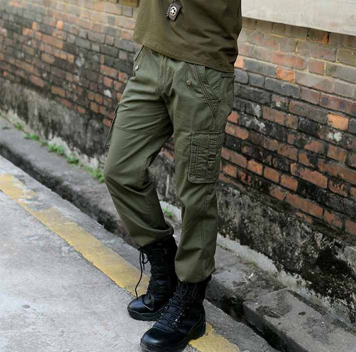 耐用的休闲军绿男长裤批发
