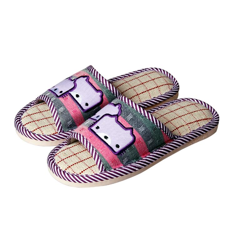 小熊防滑透氣型亞麻拖鞋廠家直銷