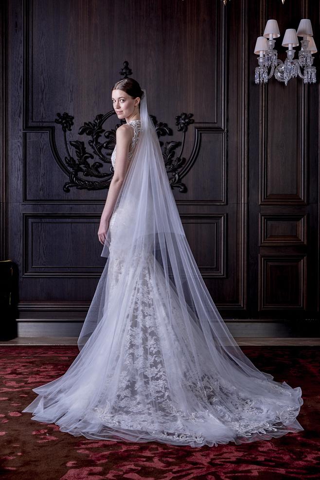 定做蓬蓬裙大拖尾新娘婚纱礼服