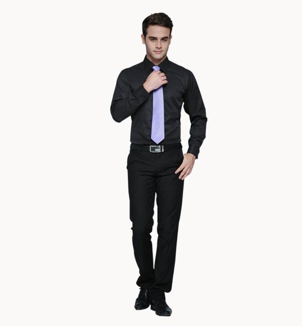 亿诚制服YCCY-002 长袖基本款男士职业商务衬衫定做