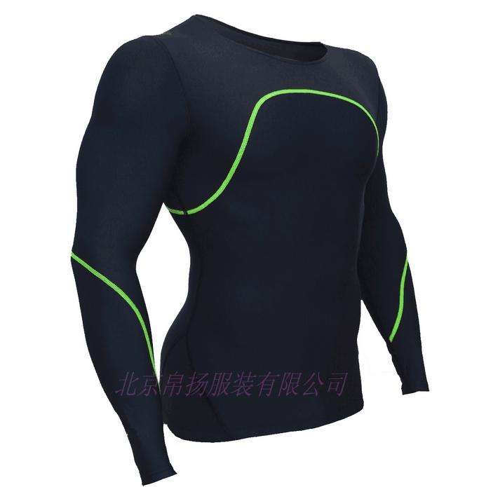 吸湿排汗速干跑步运动健身紧身衣定做