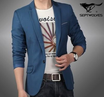 大鹏商贸有限公司供应时髦的七匹狼休闲西服
