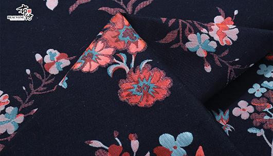 浙江女装服饰提花面料花朵提花F05599