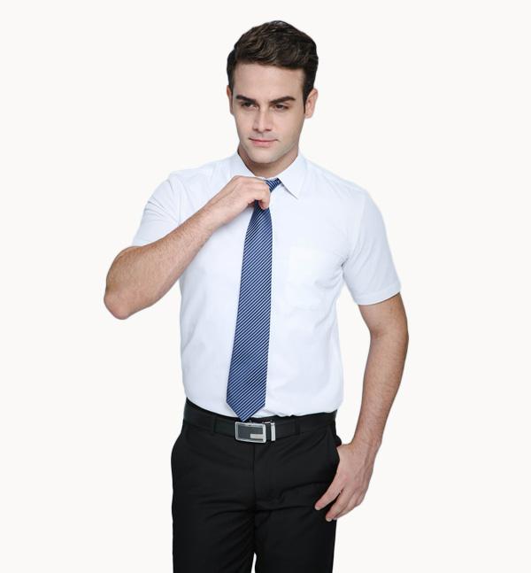 亿诚制服YCCY-003 短袖基本款男士职业商务衬衫供应