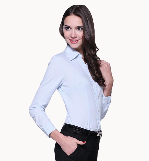 亿诚制服YCCY-004 长袖基本款女士职业商务衬衫定做