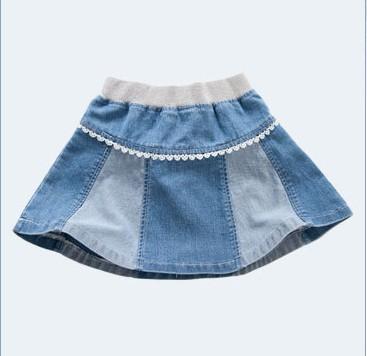 牛仔短裙女童制造厂家批发