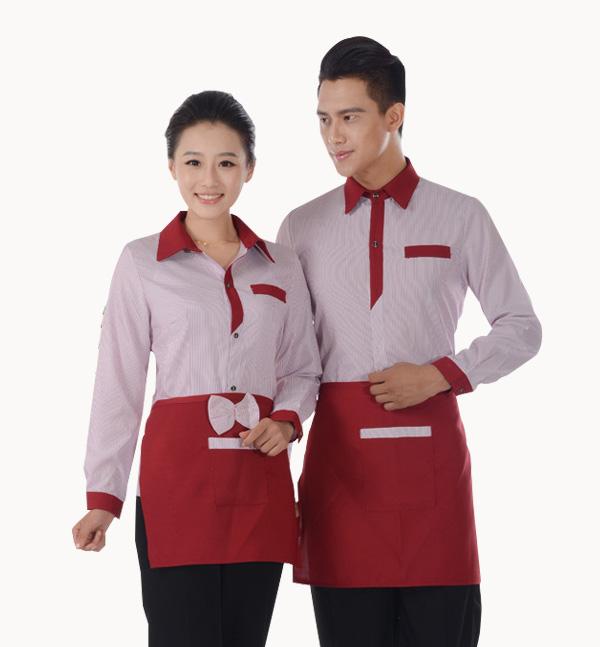 亿诚制服YCJD-001春秋季长袖款酒店餐厅服务员制服套装供应