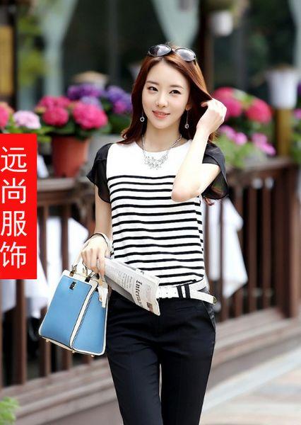 上海时尚女式雪纺衬衫批发