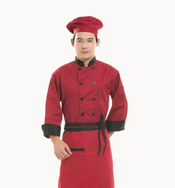 亿诚制服YCCS-002 长袖款高级酒店厨师制服套装批发