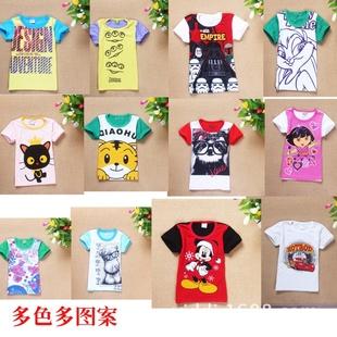 今年最新款的库存韩版外贸纯棉T恤批发
