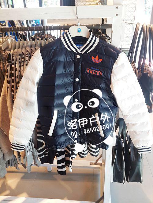 adidas三叶草女棒球棉服外套M69952批发