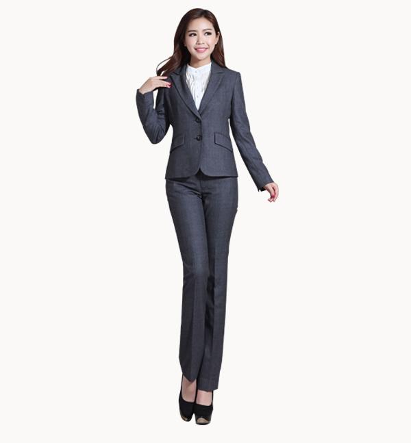 亿诚制服YCZY-006 女款职业商务西服套装批发