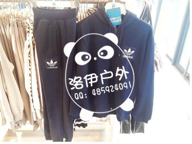 奢华的adidas三叶草男连帽外套批发