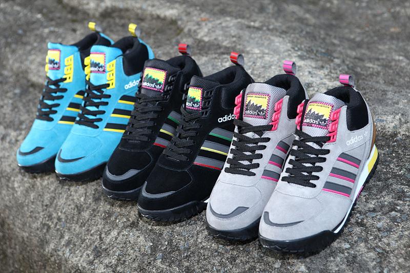 超低价阿迪高帮加绒保暖复古运动鞋批发