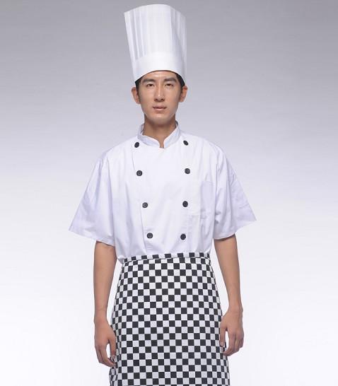 正品厨师服夏装短袖定制