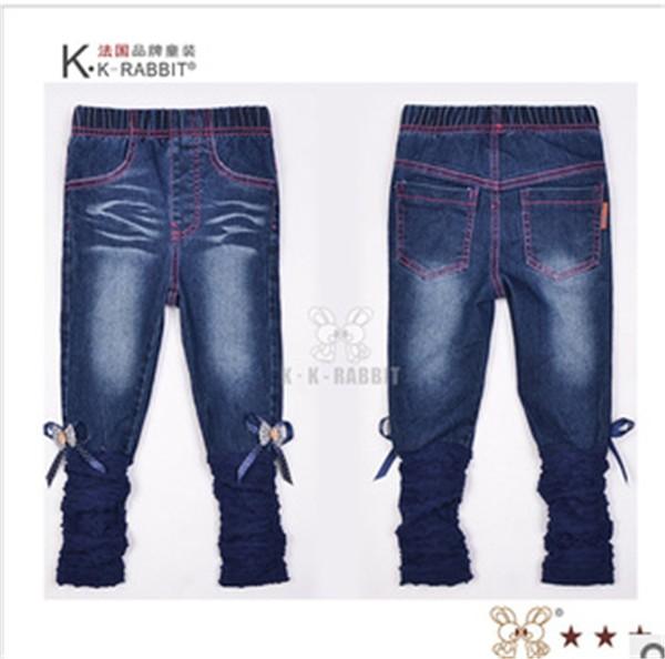 概能童装贸易公司专业提供最新女童牛仔长裤 女童牛仔裤代理
