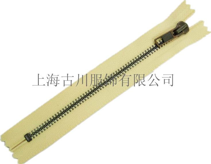 上海静安YKK拉链5号红古铜金属拉链
