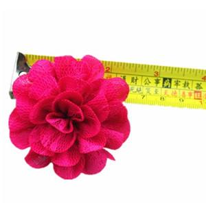 雪纺蕾丝双层6.5cm手工花厂家直销