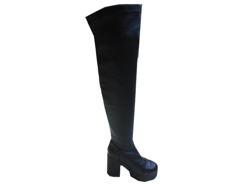 临汾市打折时时秀时尚高筒中跟女靴批发
