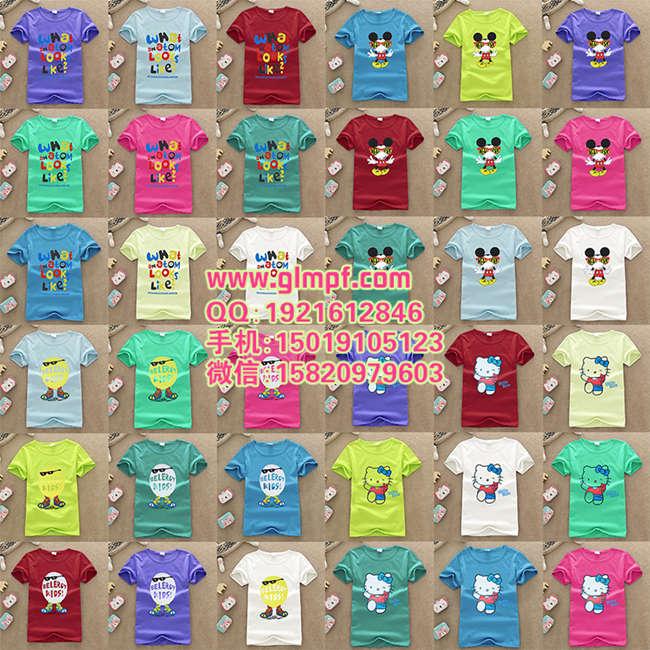 热销童装T恤衫批发夏季新款童装服装批发便宜中小童服装拿货