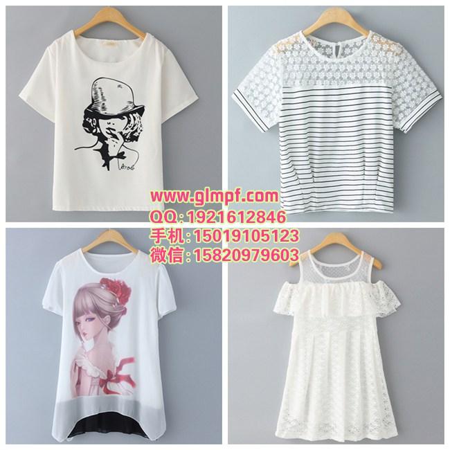 棉质印花T恤衫夏季短袖女装T恤地摊女T恤批发