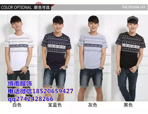 广州沙河批发男士T恤低价批发市场厂家T恤一手货源