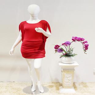宽松大码女装真丝连衣裙芭帝圣BURLYSEN品牌折扣尾货女装批发