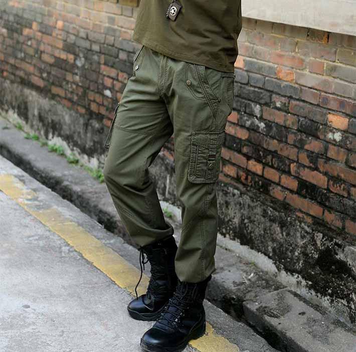 洛阳先锋部落:时髦的休闲军绿男长裤【供售】