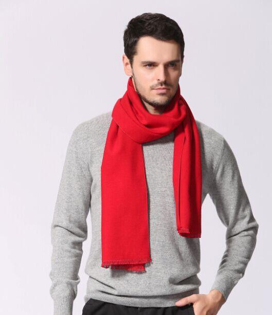男女士红色围巾 真丝围巾 拉绒围巾 围巾定制