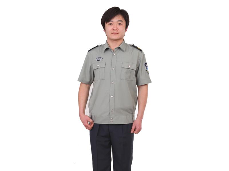 标志服装批发夏款:供应潍坊便宜的保安服