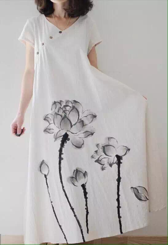 折扣女装斯玫服饰新到15年新款时尚棉麻连衣裙