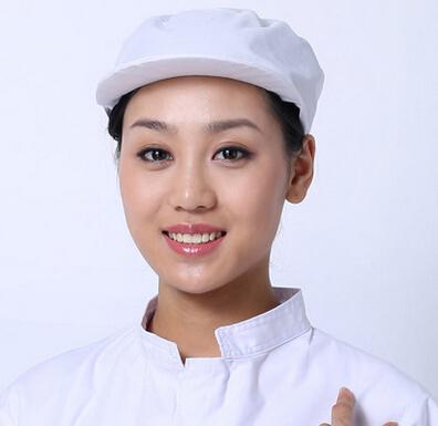庞哲食品卫生帽定制 食品帽厂家食品加工帽价格 白色食品网兜帽