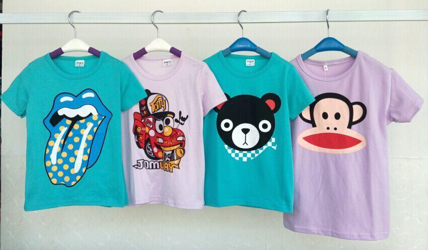 夏季便宜服装批发便宜夏装批发便宜套头T恤童装批发市场