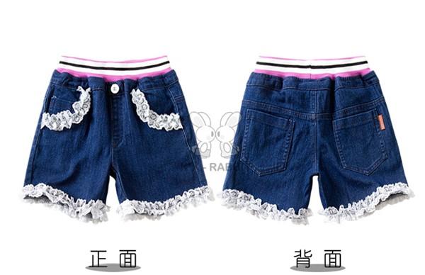 概能童装专业提供最有性价比的女童牛仔短裤外贸精品童裤