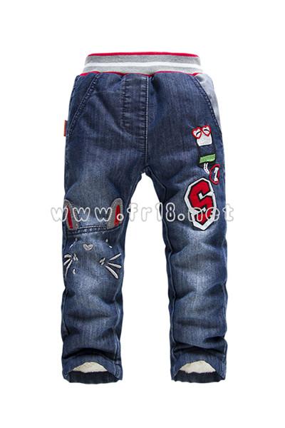佛山最好的外贸原单加绒牛仔裤市场价格 安徽女童牛仔裤