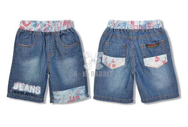 概能童装贸易公司供应前卫儿童牛仔短裤,英国牛仔裤童装短裤