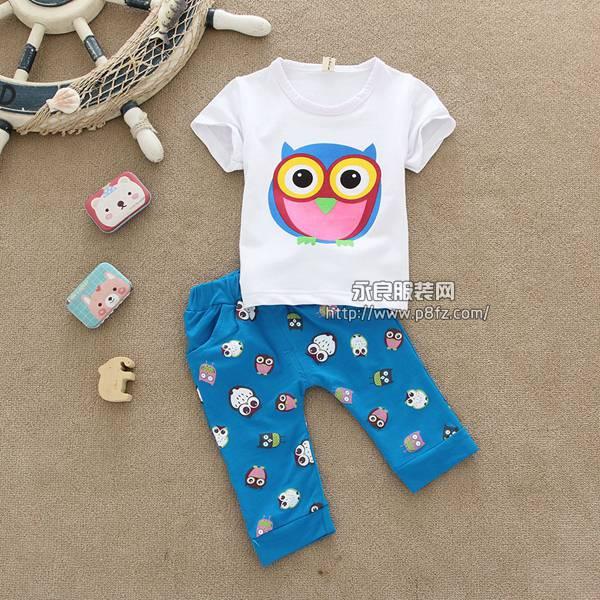 厂家童装T恤批发儿童服装批发市场小孩服装批发市场