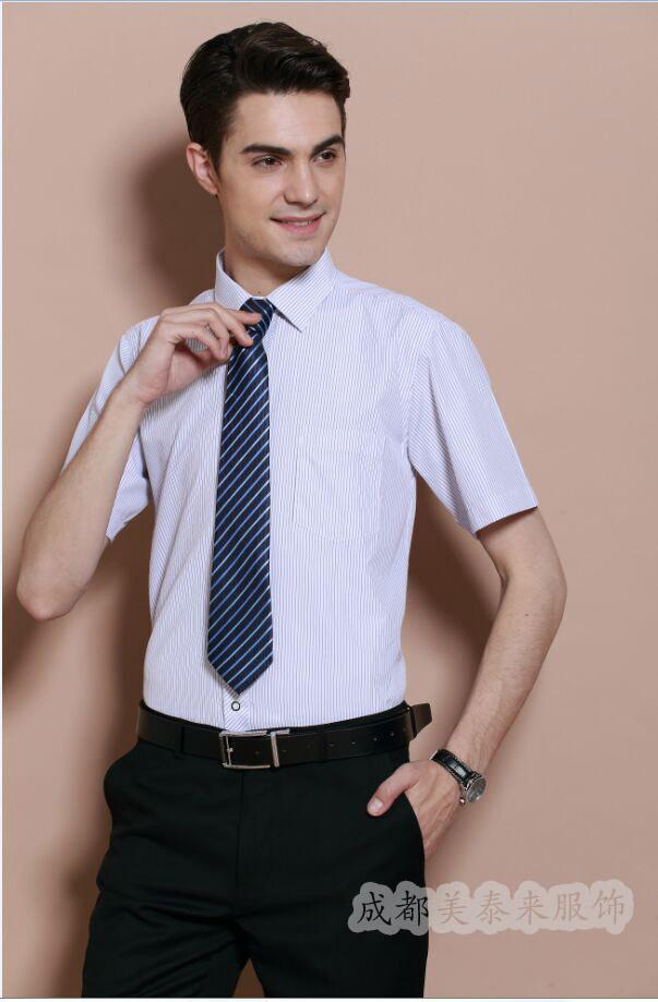 男士品牌衬衫定制 男士短袖衬衫定做 休闲衬衫定做