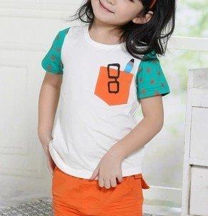 2015新品夏季韩版童装批发时尚纯棉儿童男孩女孩印花短袖T恤批发