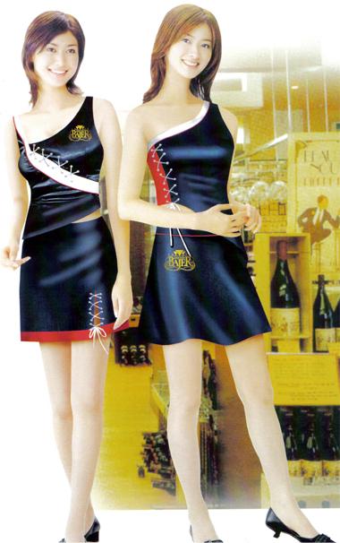 庞哲促销服定制 酒品类促销服 促销裙装 促销裤装 促销服价格