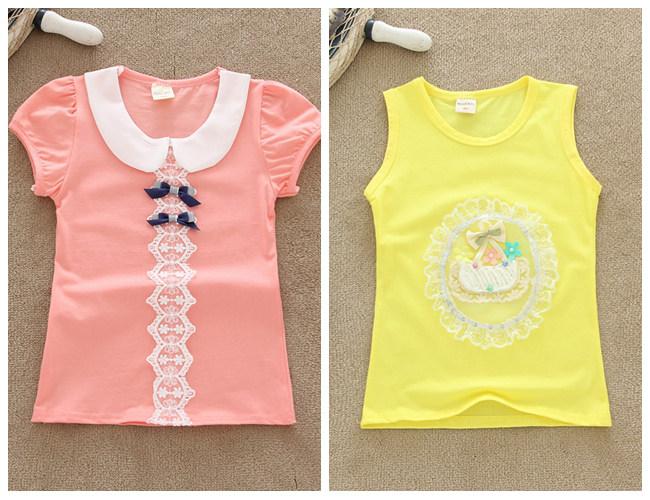 时尚夏装短袖童装小衫批发热销印花童装上衣韩版儿童印花T恤衫批发